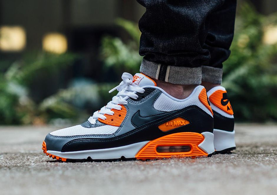 nike air max 90 homme noir orange