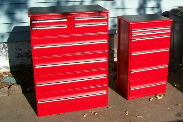 Tool Chest Dresser Makeover: Dressers We Painted To Look Like Tool Boxes, Snap On Sent