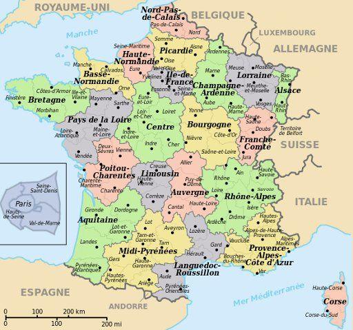 Departementen In Frankrijk Reizen Frankrijk Frankrijk Parijs
