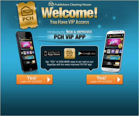 Check Out The New And Improved PCH VIP App Win for life