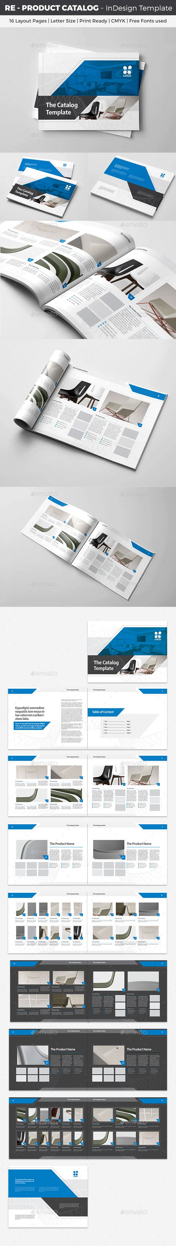 RE - Product Catalog InDesign Template | Indesign templates, Product ...