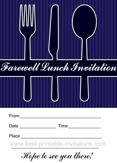 Printable Farewell lunch invitation Free invites from wwwbest