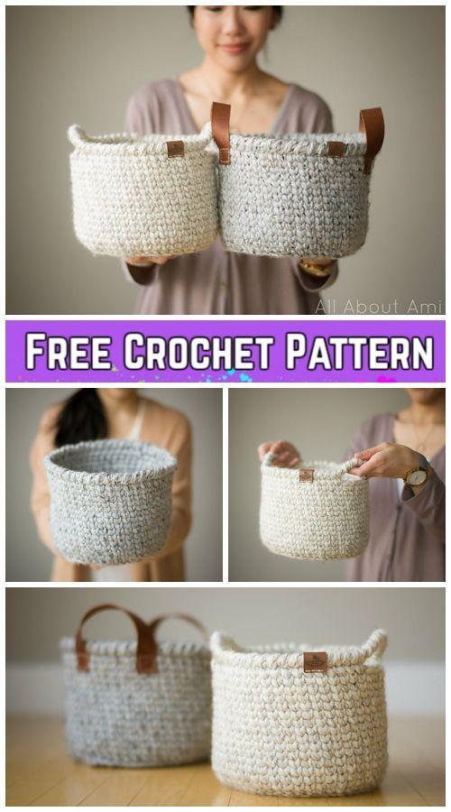 Crochet Waistcoat Basket Kostenlose Häkelanleitung - Video - Hakeln Ideen #crochetdoilies