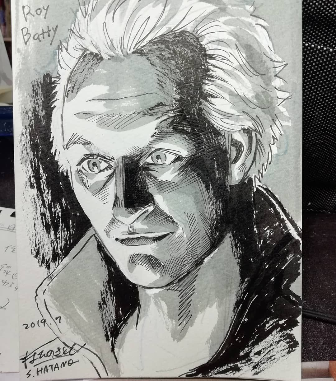 """はたの さとし on Instagram: """"#ブレードランナー の #ロイバッティ が本当に好きです。映画で描かれる2019年に旅立たれてしまった。寂しいです。 #RoyBatty #BladeRunner #RutgerHauer #RutgerHauerRIP  #ルトガーハウアー  #drawing #draw…"""""""