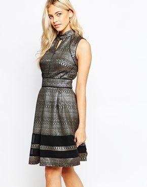 1519a58b6754 Oasis Metallic Pattern Skater Dress   2015 Clothes   Dresses, Oasis ...