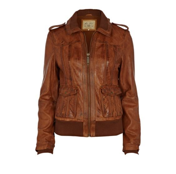 Brown Bomber Jacket Leather Non Leather Jackets Coats
