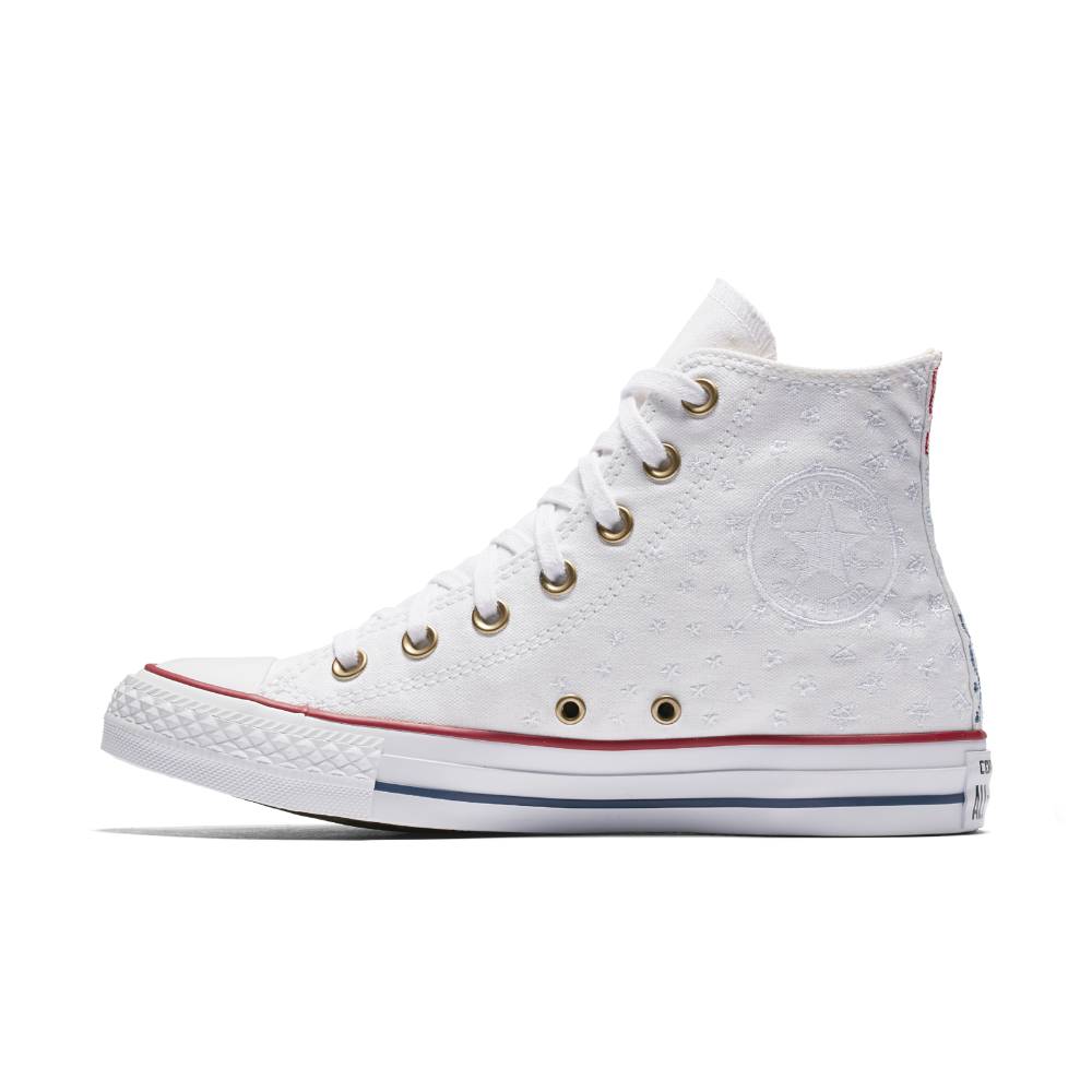 46f681bbc620f7 Converse Chuck Taylor All Star Americana Embroidery High Top Women s Shoe  Size 10.5 (White)