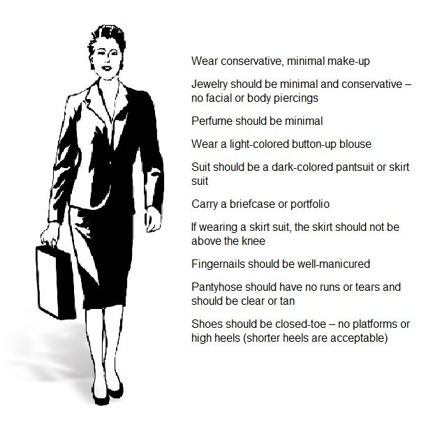 what should a woman wear to a job interview