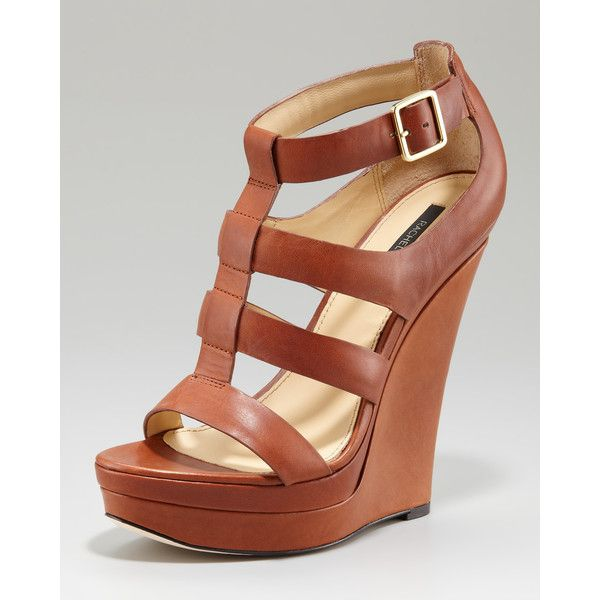 3a32f78043fb Rachel Zoe Kelsey Platform Wedge Sandal ( 168) ❤ liked on Polyvore  featuring shoes