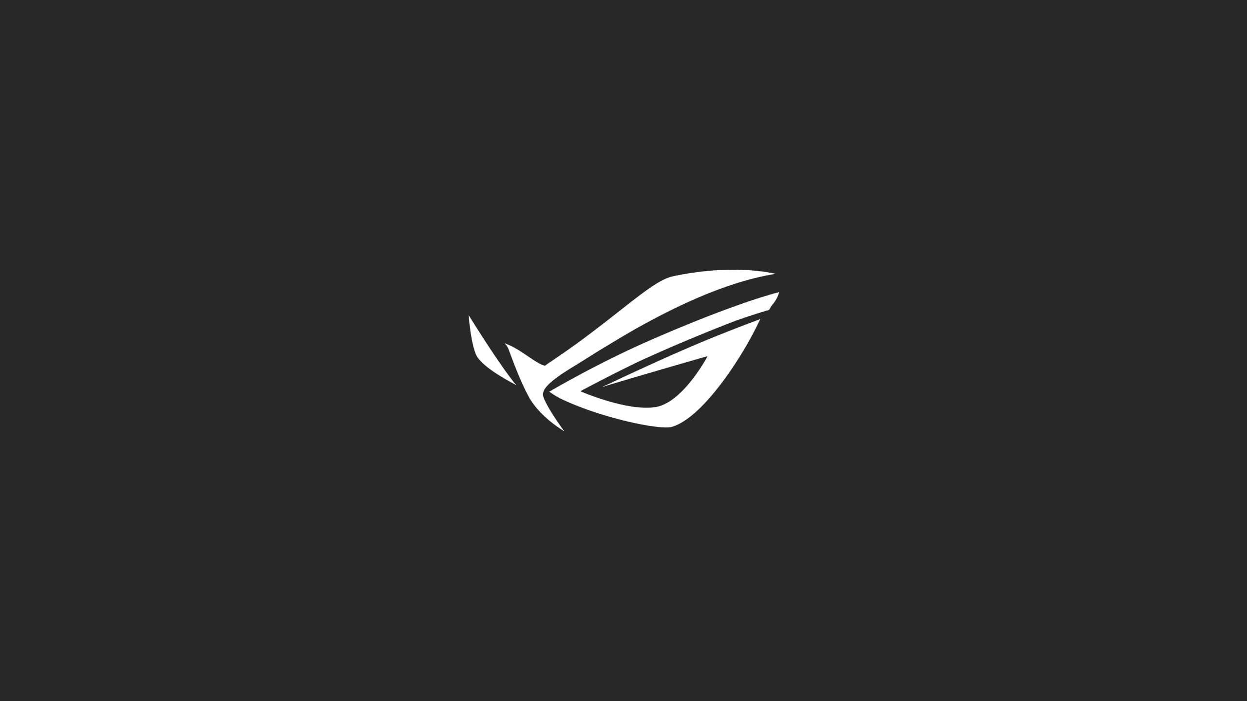 Asus ROG logo ASUS Republic of Gamers minimalism 2K