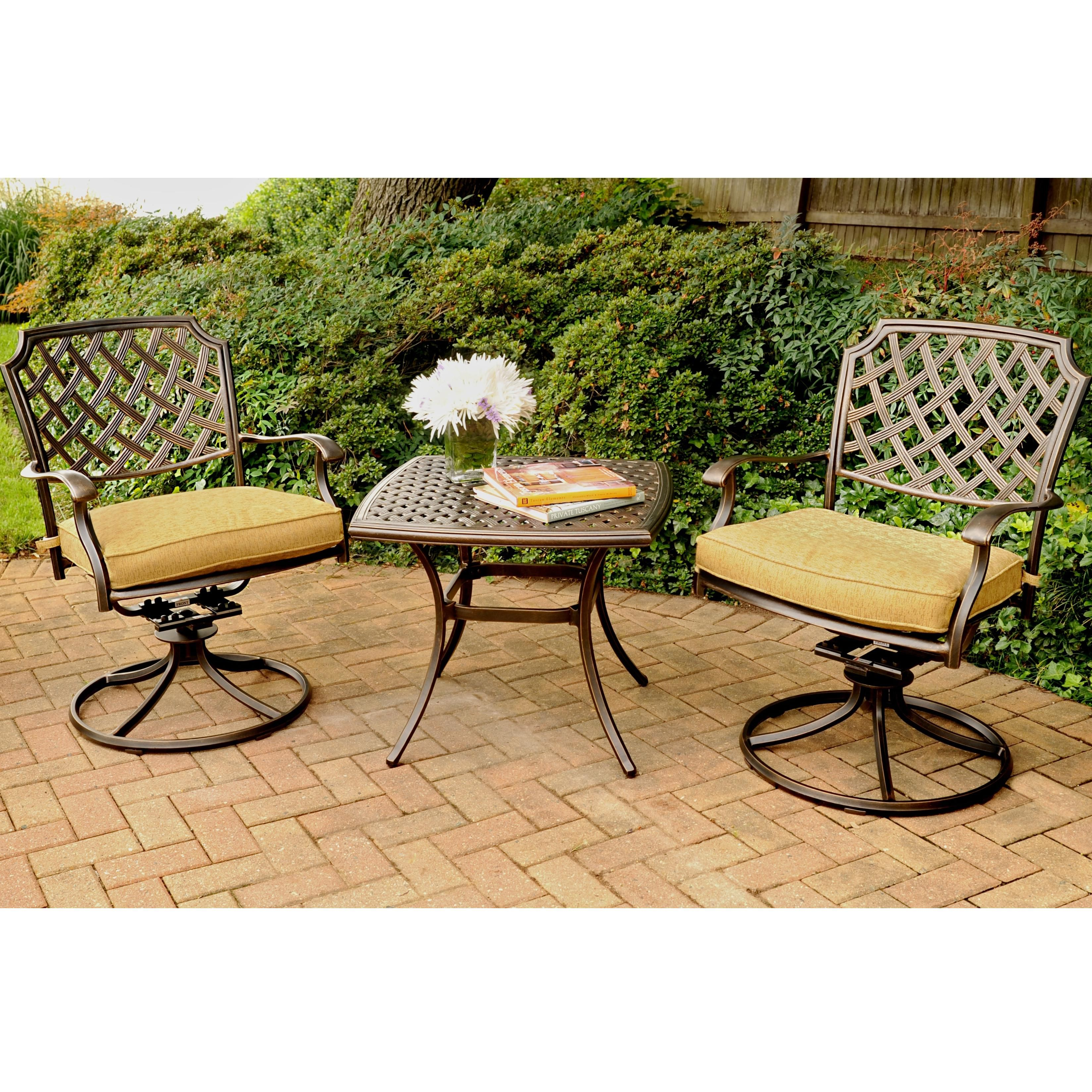 Heritage Outdoor Chat Set by Agio at Darvin Furniture