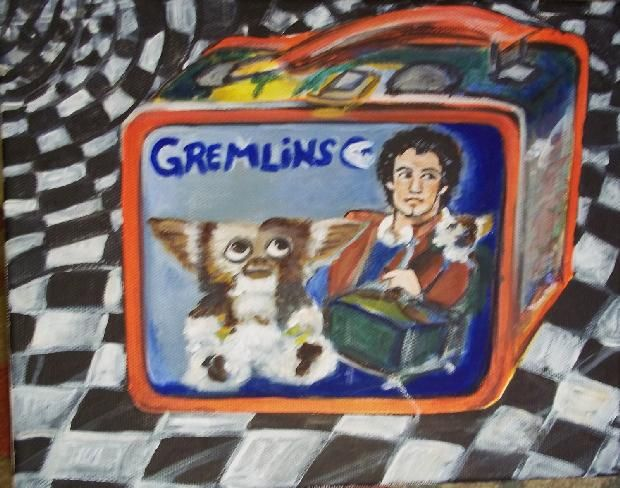 Ridiculously stupid/Incridibly cool painting of a Gremlins lunchbox