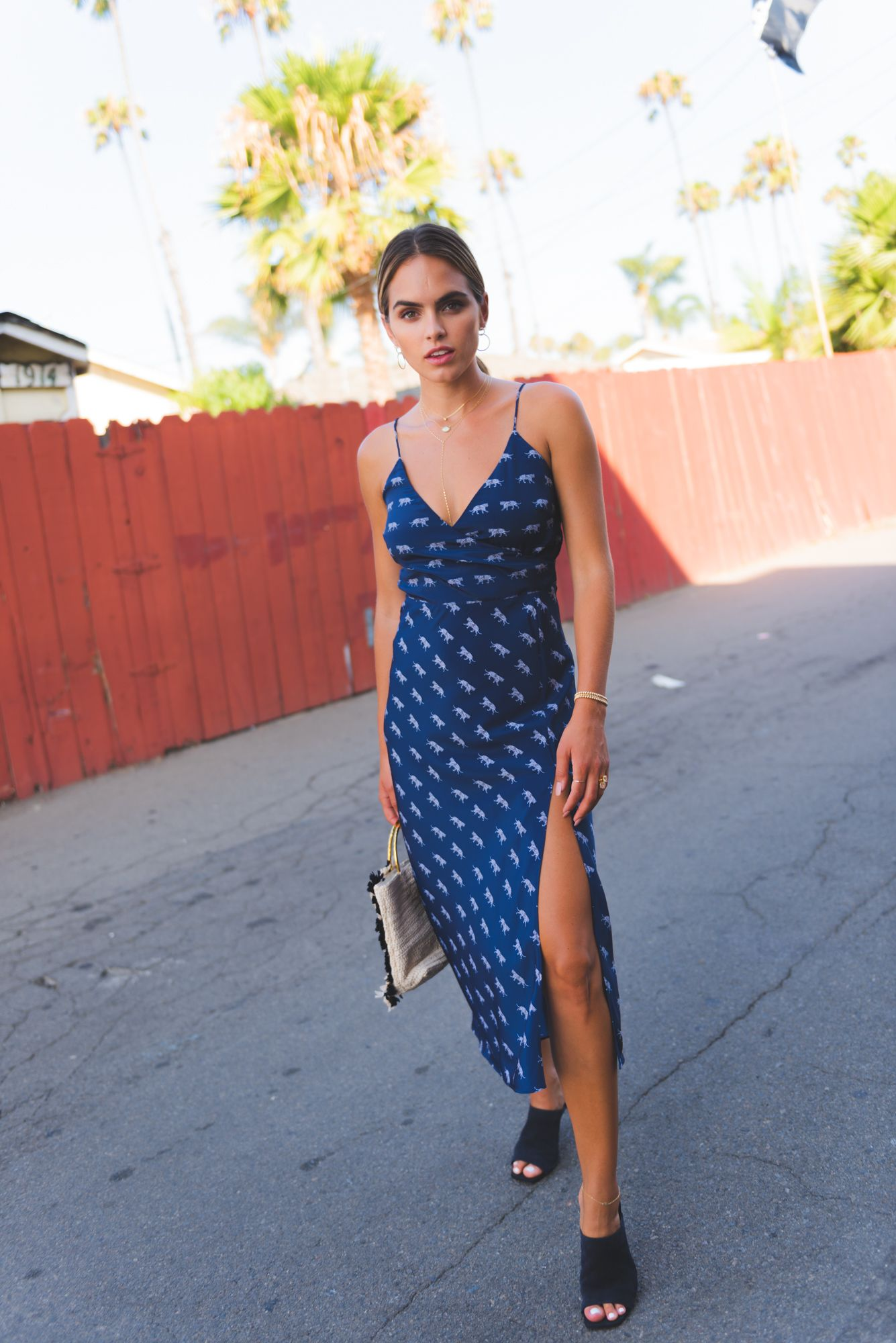 7d4e7032d0468 Accessorized Outfit Ideas: Cleobella Revel Slip Dress Tiger Godess Animal  Print Midi Slip Dress Transitional Style Summer Style Summer Street Style  Layered ...