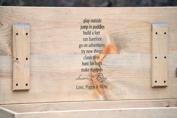 36x16x16 Personalized Toy Box & 36x16x16 Personalized Toy Box | Wood toy chest Toy boxes and ...