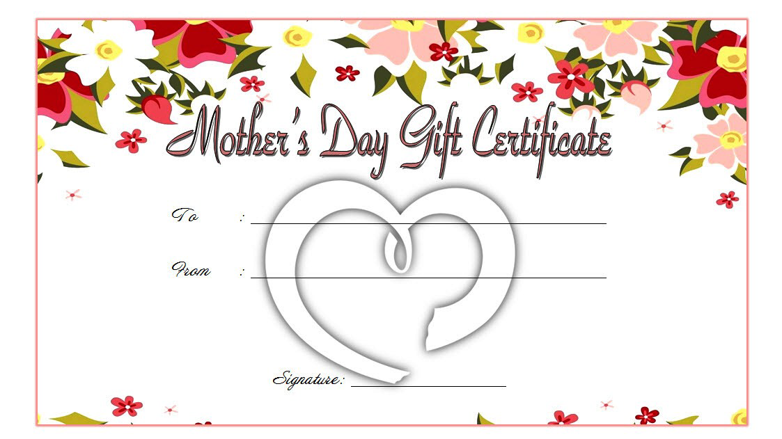 Mothers Day Gift Certificate Template Free Printable 3 Templates Printable Free Gift Certificate Template Mother Day Gifts