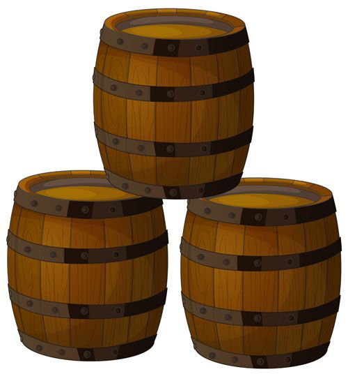 Http Freedesignfile Com 26406 Set Of Wooden Wine Barrel Vector Material 05 Wine Barrel Barrel Wine