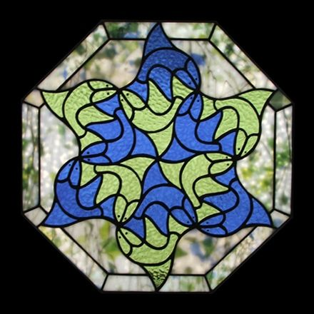 A Puzzlelike Stained Glass Fish Pattern Based On The Work Of MC Adorable Stained Glass Patterns For Sale