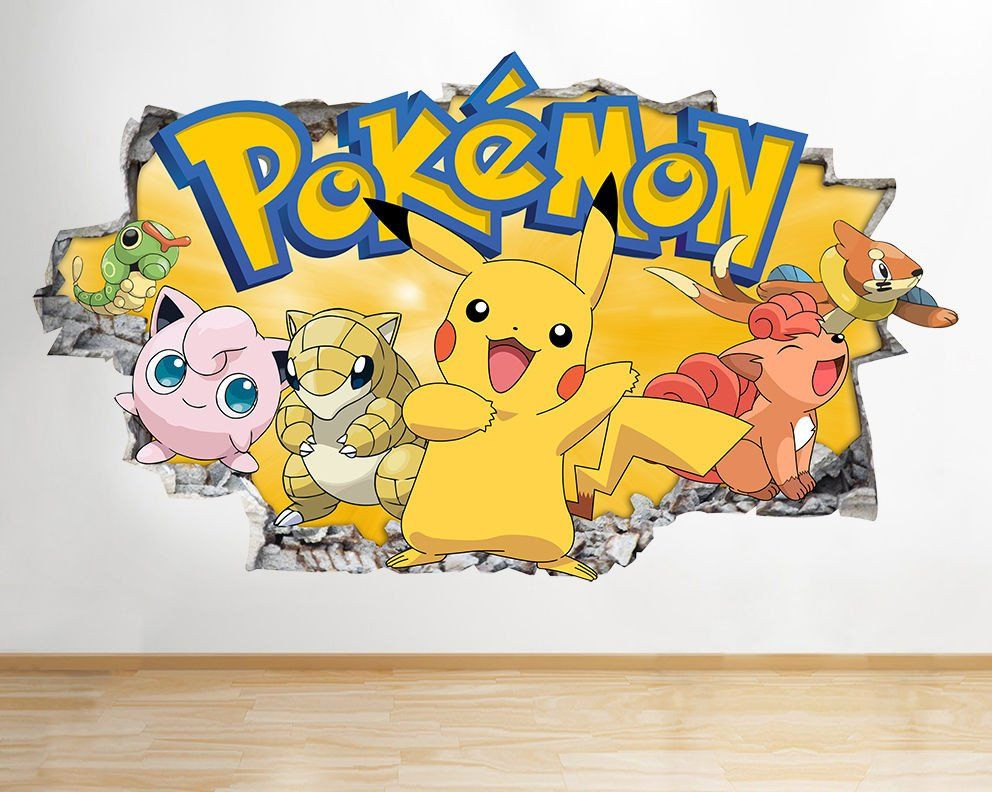 Pokemon Go X Y Game Characters Wall Decal Poster Art Stickers Vinyl Room