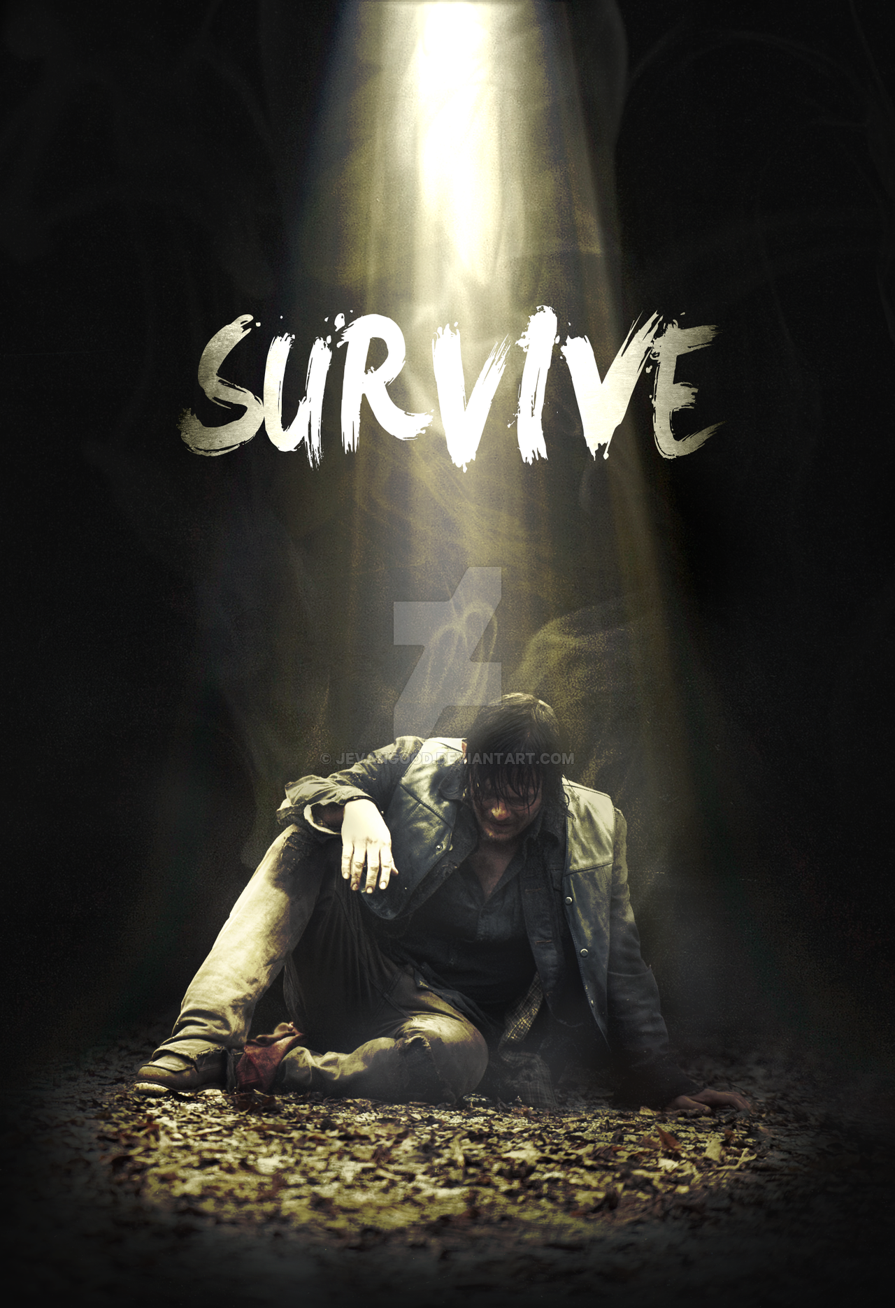 The Walking Dead Season 5 Daryl Poster By Jevangood The Walking