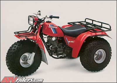 early 80\u0027s honda big red 3 wheeler, oh the hours i logged on one of