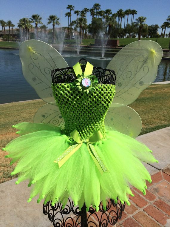 Tinkerbell Inspirado Vestido De Tutu Traje De Tutu De