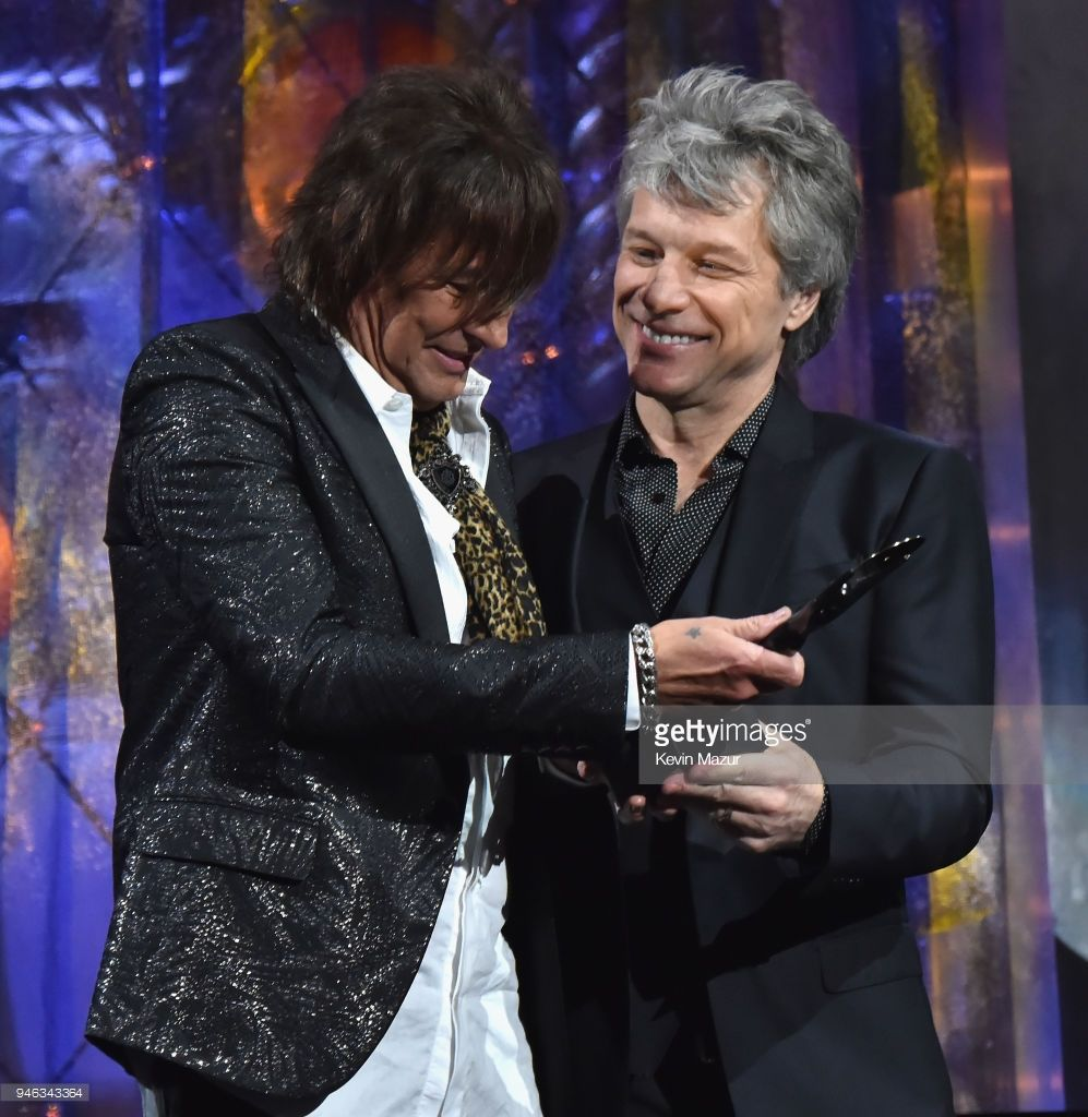 Inductees Richie Sambora And Jon Bon Jovi Of Bon Jovi Attend The 33rd Jon Bon Jovi Bon Jovi Bon Jovi Always