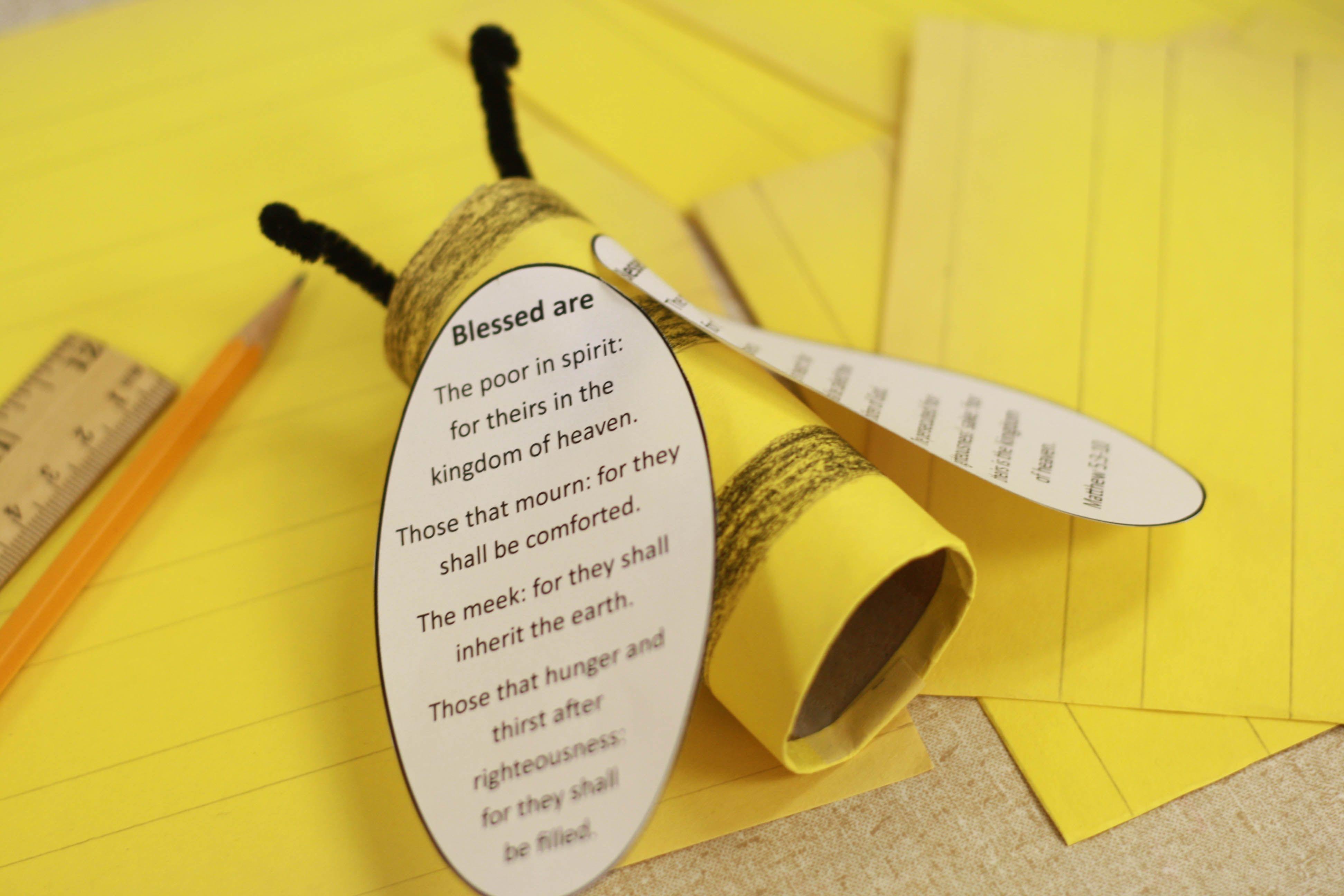 Sermon On The Mount The Bee Atitudes Craft