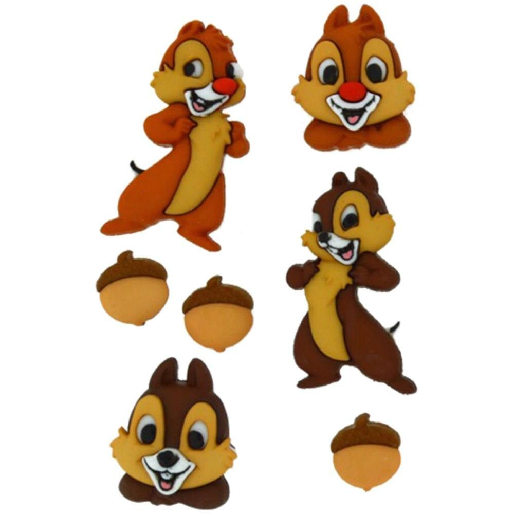 Chip & Dale Embellishment • Chip and Dale Button (7/Pkg)