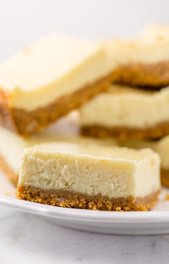 New York-Style Cheesecake Bars - Baker by Nature
