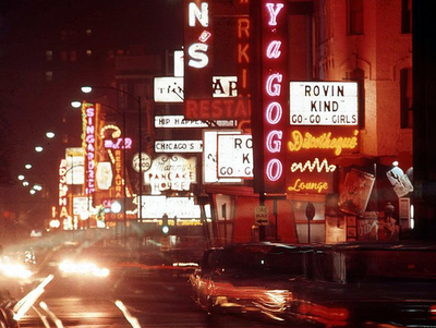 North Rush Street, c.1960s (Chicago Pin of the Day, 12/29/2013).