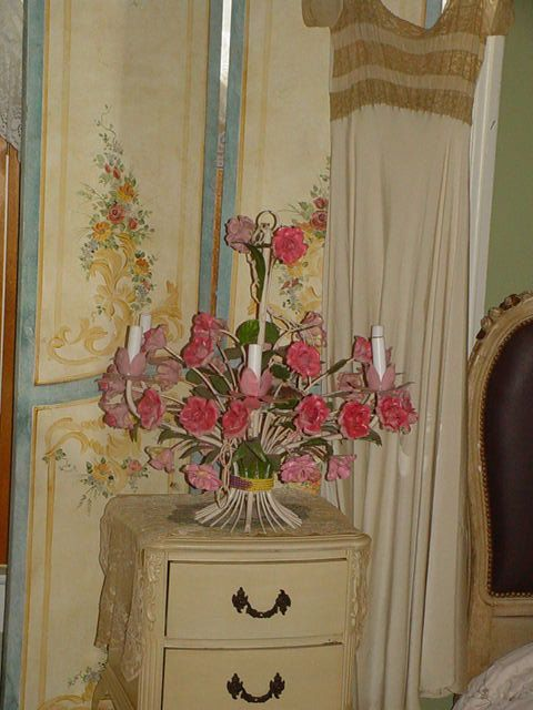 Italian Tole Chandelier Pink Porcelain Roses Who Says You Can T Happiness At Least For A Little While