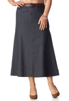 This beautiful Gored Denim Skirt is an online exclusive so make sure you sign up for Friendship Rewards to get free shipping. $39.95