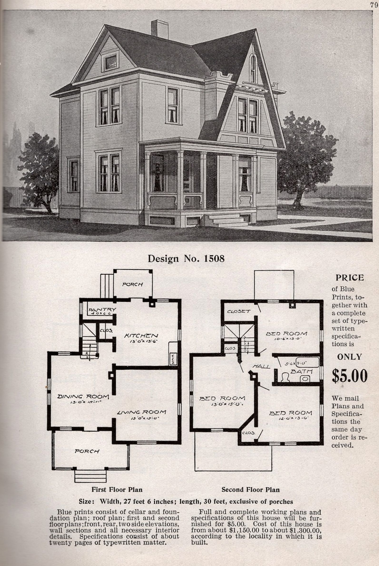 Heres The Entire Page Showing The Floor Plan Of The Radford 1508 House Plans Farmhouse Floor Plans How To Plan