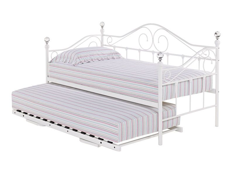 Florence Daybed White In 2020 Daybed With Trundle Metal Daybed