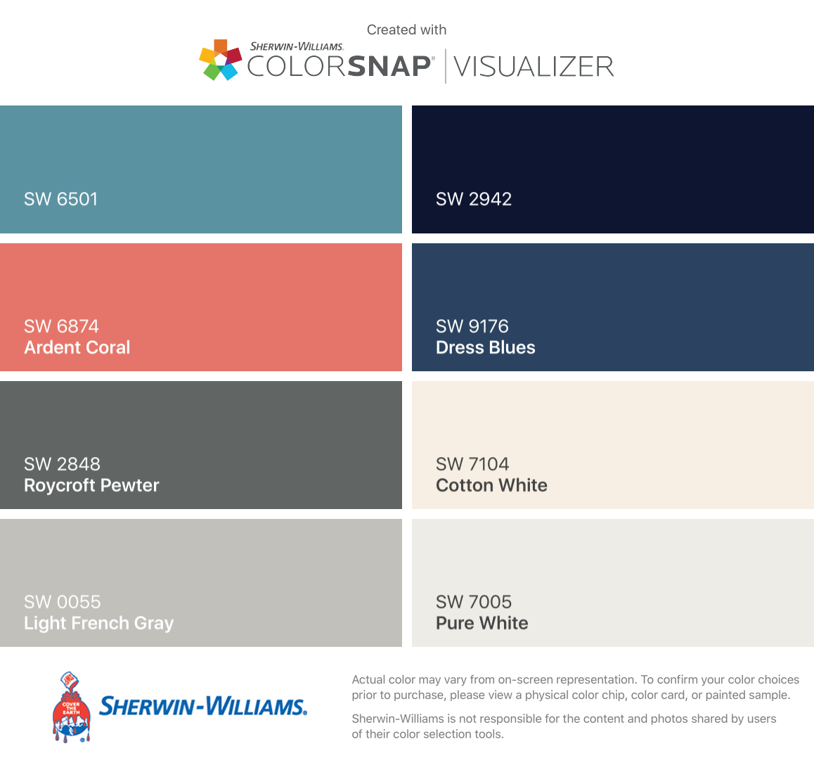 I Found These Colors With Colorsnap Visualizer For Iphone By Sherwin Williams Manitou Blue Sw 6501 Ardent C Sherwin Williams Sherwin Paint Colors For Home [ 1088 x 1158 Pixel ]