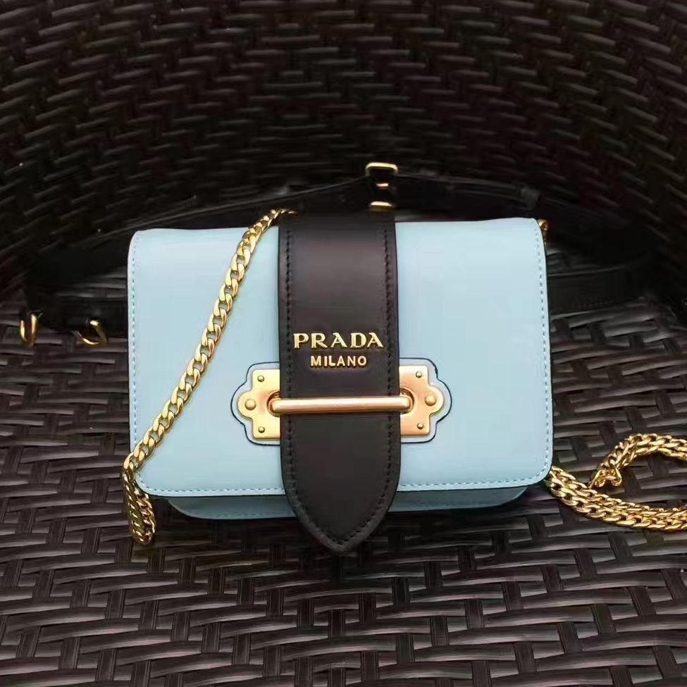 fd0416f20ccb Prada Cahier Calf Leather Fanny Pack Bag 1BL004 Light Blue 2017 ...