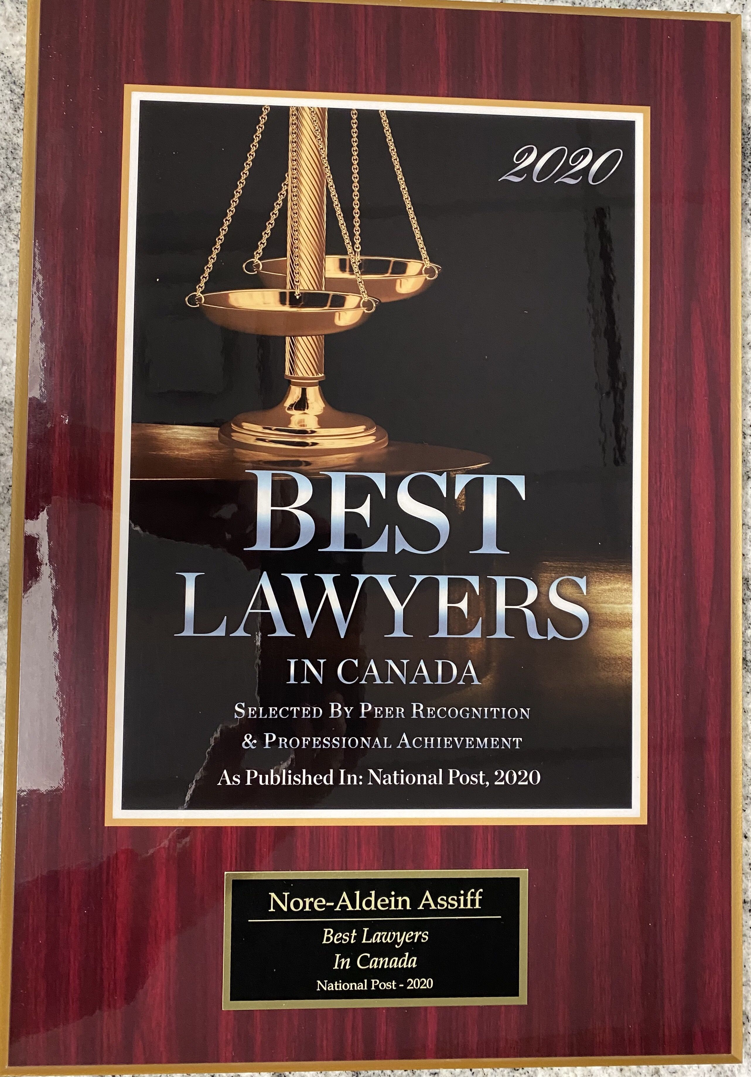 Selected one of the best Personal Injury Lawyers in Canada