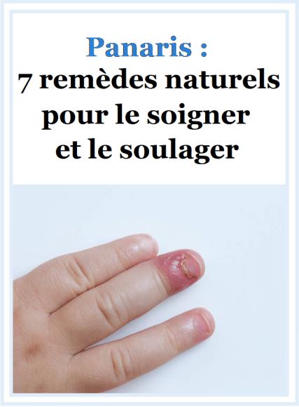 Panaris 7 Remedes Naturels Pour Le Soigner Et Le Soulager Panaris Remede Remedes Naturels