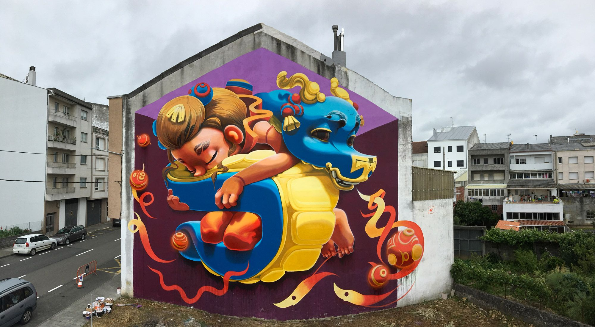 Street Art by Animalito, located in Carballo, Spain