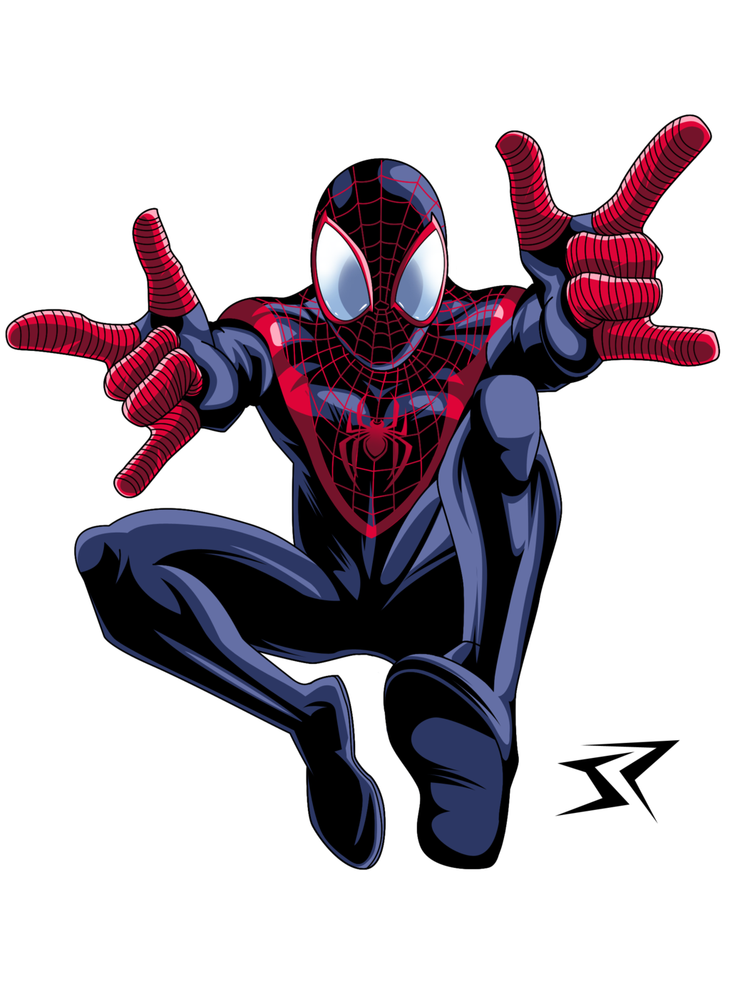 Ultimate Spiderman Miles Morales By Jonathan Piccini Ultimate Spiderman Spiderman Spiderman Art