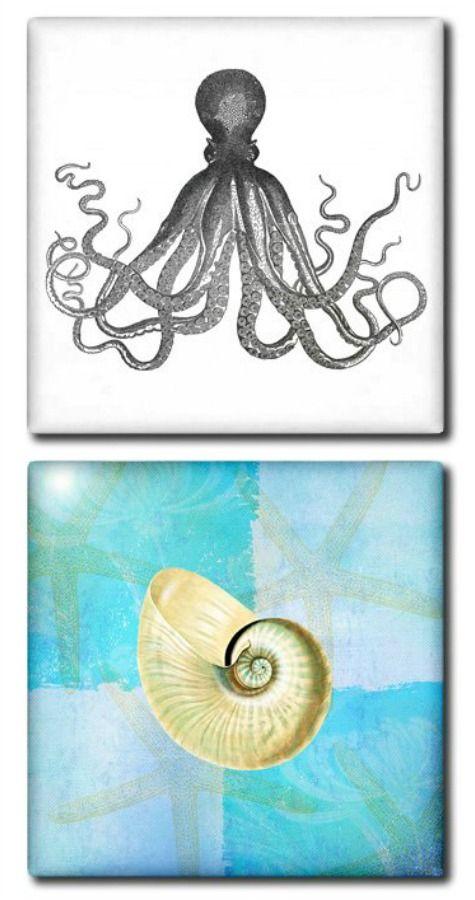 Coastal Kitchen Backsplash Ideas with Tiles | Paintings | Pinterest on
