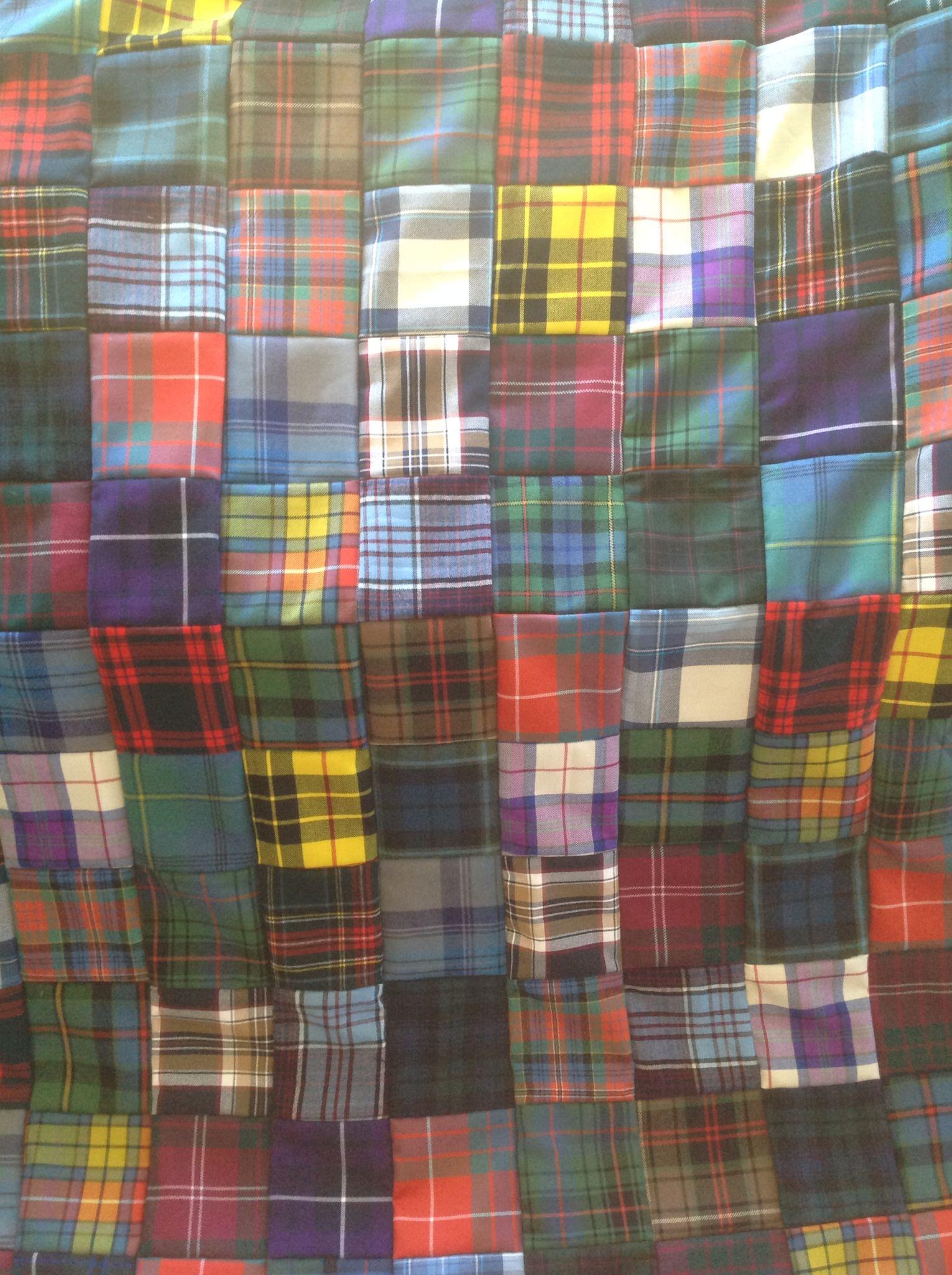 Detail of my tartan quilt. | Scottish Christmas | Pinterest ... : tartan patchwork quilt - Adamdwight.com