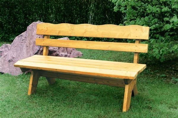 Gartenbank Kiefer Massiv Woody 184-00045 Holz Neutral Jetzt ...