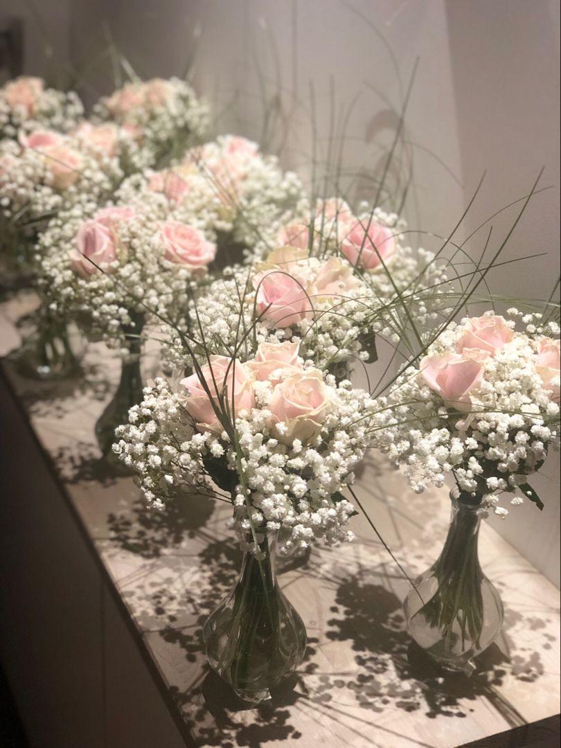 Centre de table mariage - Les Fleurs d'Agrippine #decorationeglise