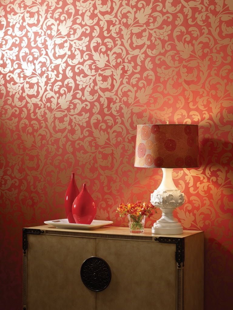 Tangerine Tango A Hot New Color Of 2012 Spices Up Paint Wallpaper Furniture And Accent Pieces Asian Paints Wall Designs Wall Texture Design Metallic Paint Walls