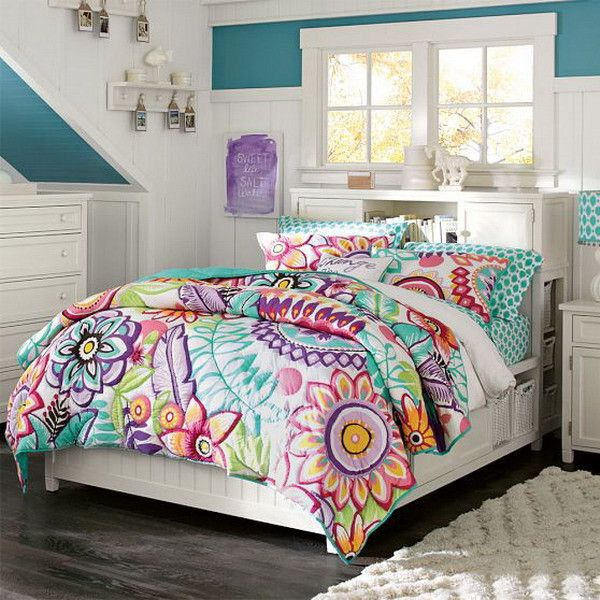Girls Bedroom Decorating Ideas With Floral Bedding Sets And White Furniture Set