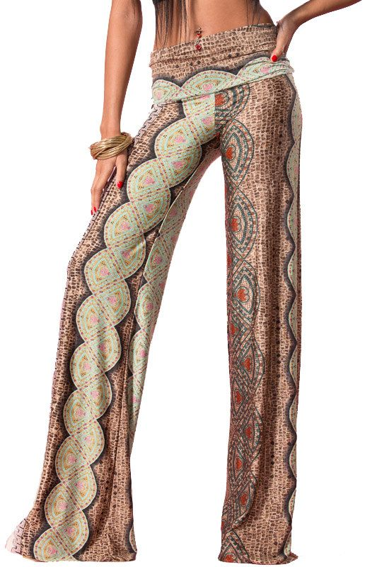 29acc5b35397b Womens Sexy Red or Green Palazzo Pant Wide Leg by DestYniBoutique ...