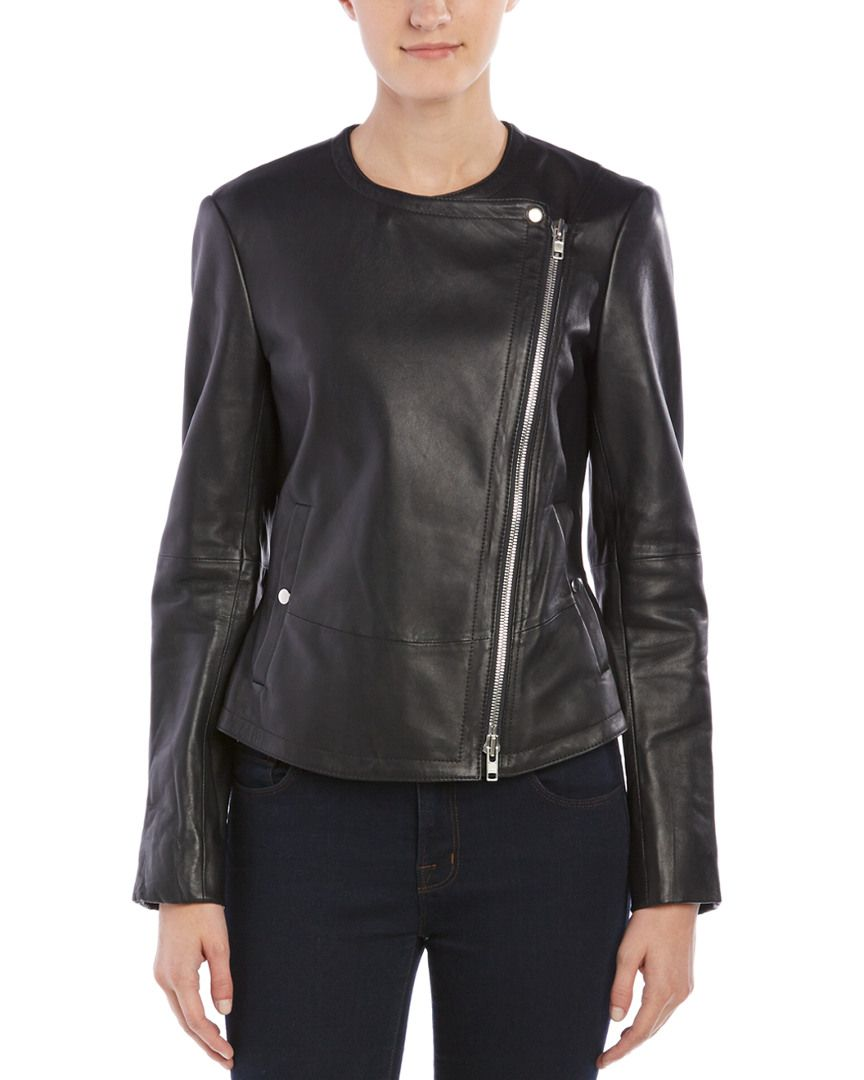 Rue La La — Theory Joean QL.Motivated Leather Jacket