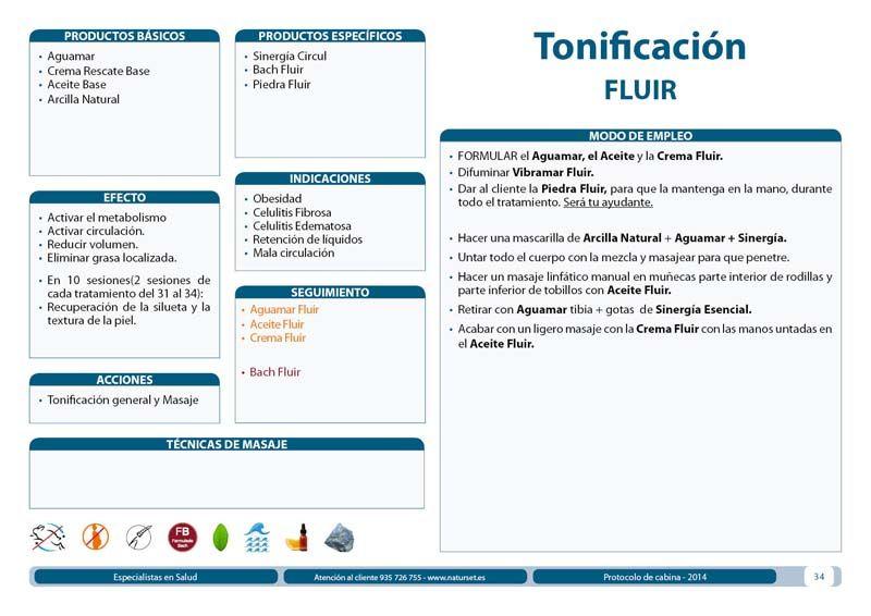 Tonificación FLUIR - #Tratamiento Corporal - Libro AZUL de #Naturset, indicado para #obesidad, #celulitis y #retención de líquidos.