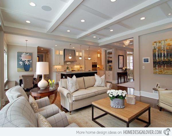 15 homey contemporary open living room ideas new house - Homedesignlover com ...